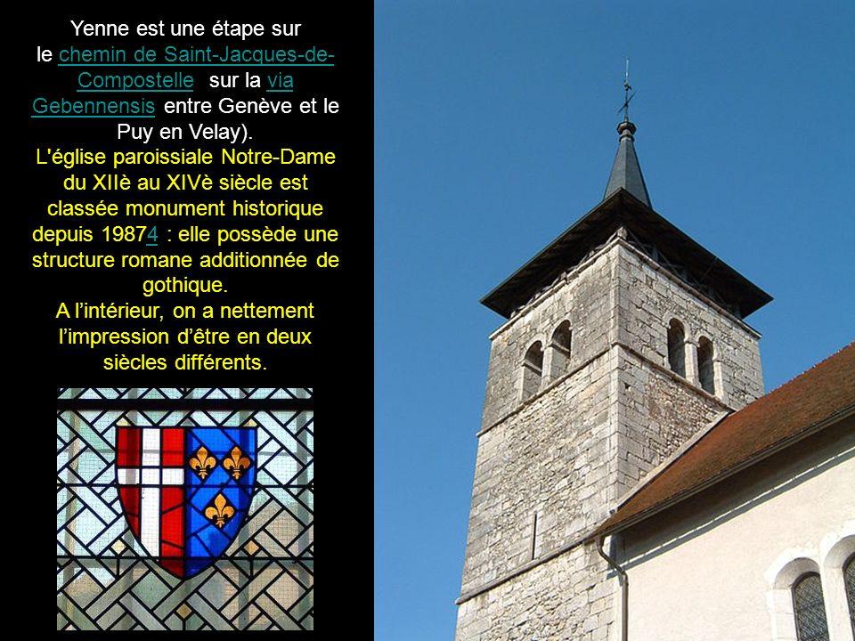 Yenne est une étape sur le chemin de Saint-Jacques-de-Compostelle (sur la via Gebennensis entre Genève et le Puy en Velay).