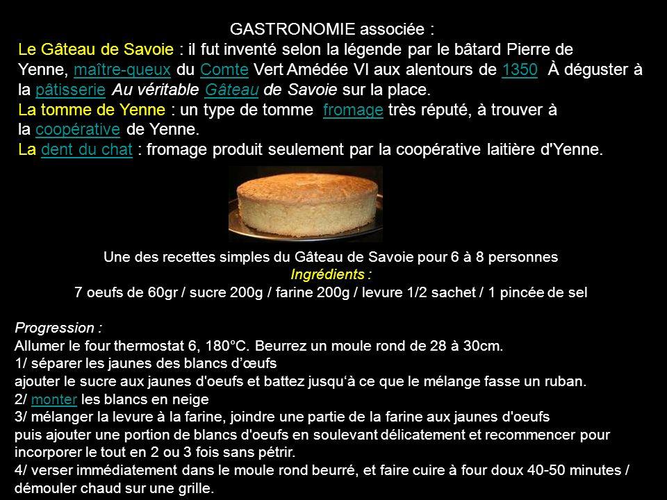 GASTRONOMIE associée :