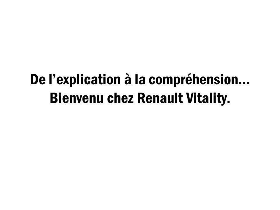 De l'explication à la compréhension… Bienvenu chez Renault Vitality.
