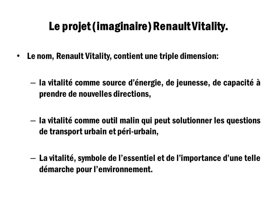 Le projet (imaginaire) Renault Vitality.