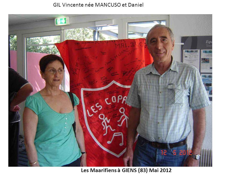 GIL Vincente née MANCUSO et Daniel