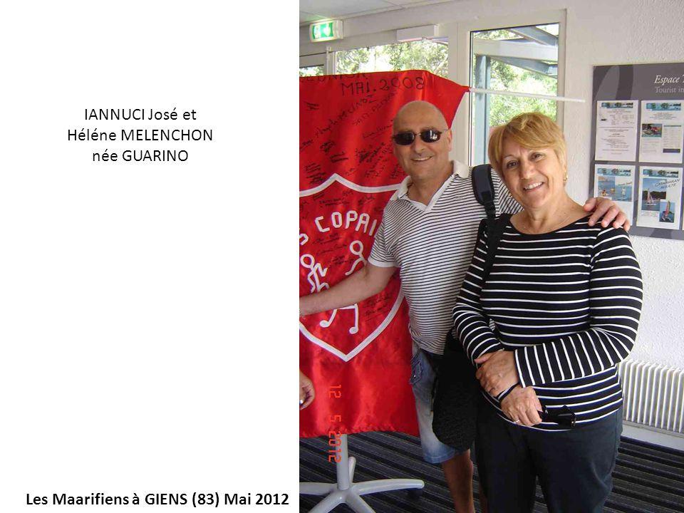 IANNUCI José et Héléne MELENCHON née GUARINO Les Maarifiens à GIENS (83) Mai 2012