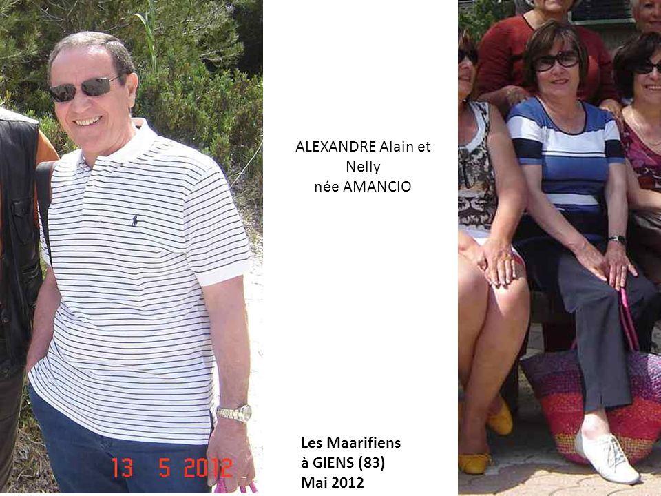 ALEXANDRE Alain et Nelly née AMANCIO Les Maarifiens à GIENS (83) Mai 2012