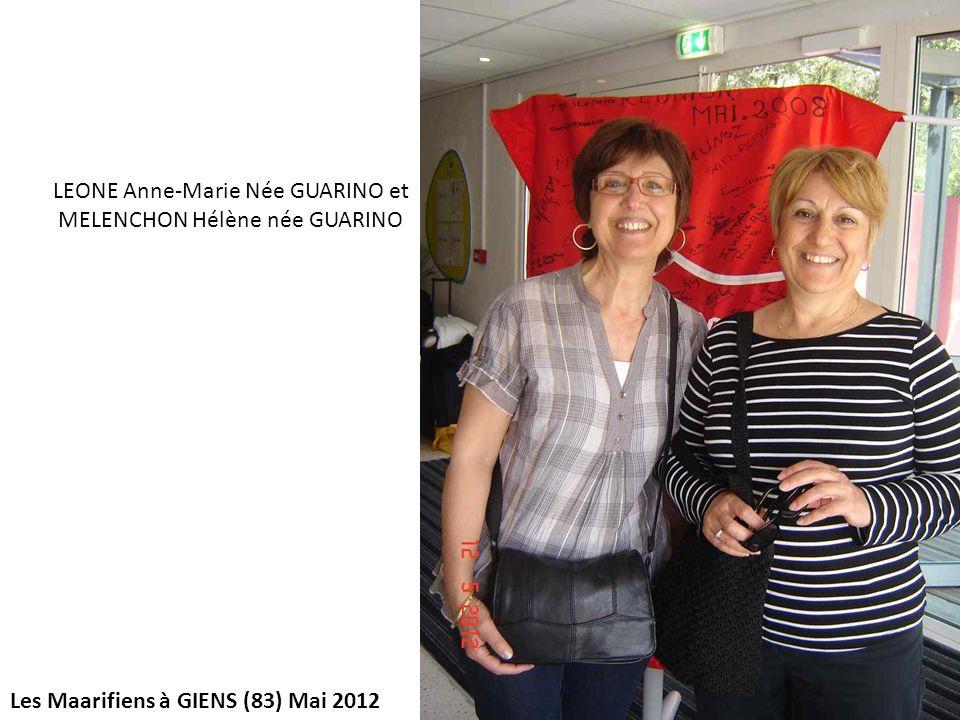 LEONE Anne-Marie Née GUARINO et MELENCHON Hélène née GUARINO