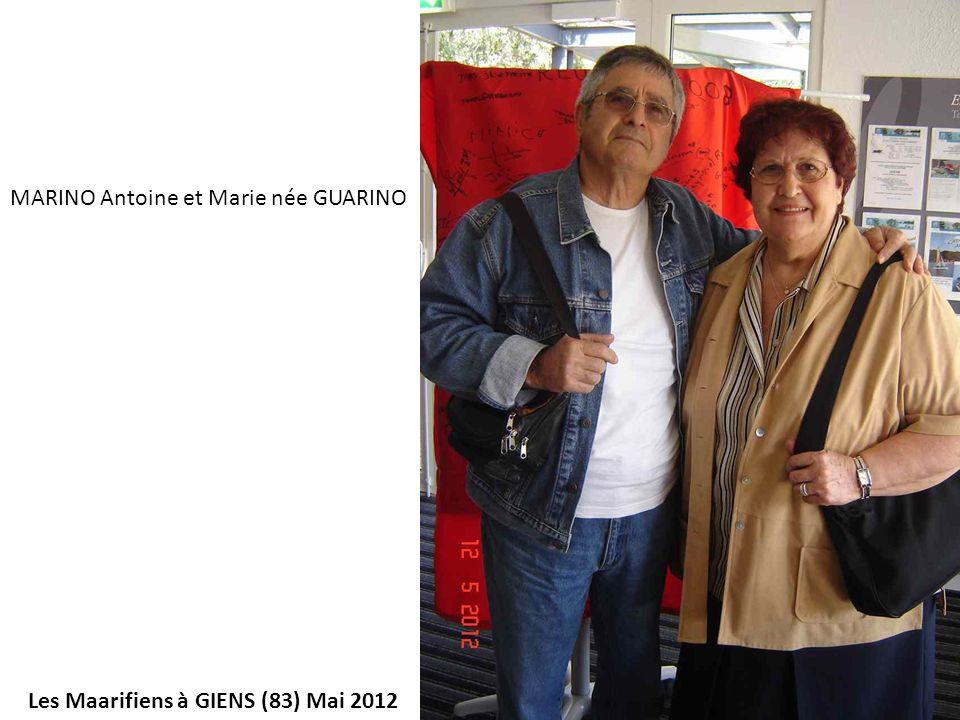 MARINO Antoine et Marie née GUARINO