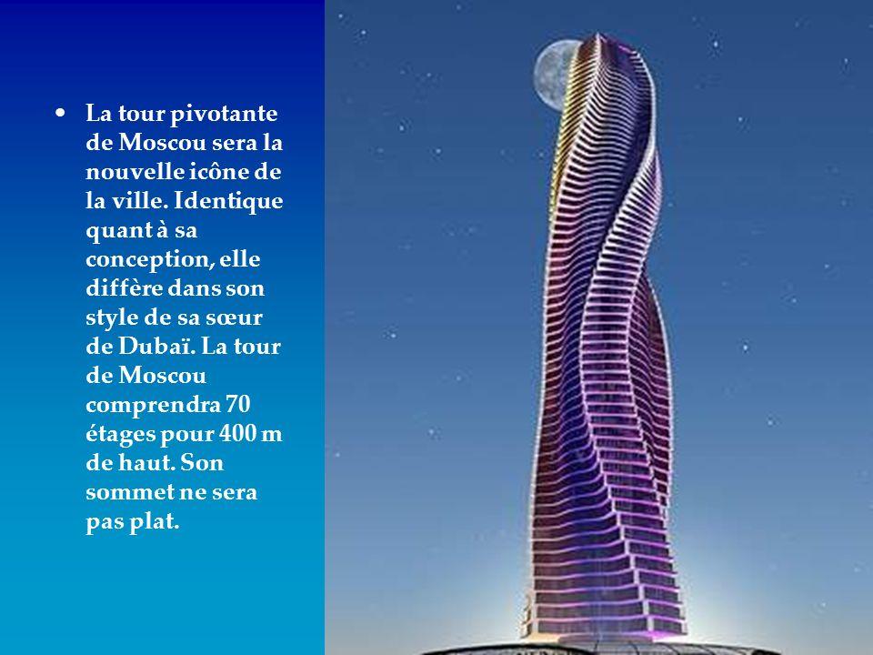 La tour pivotante de Moscou sera la nouvelle icône de la ville