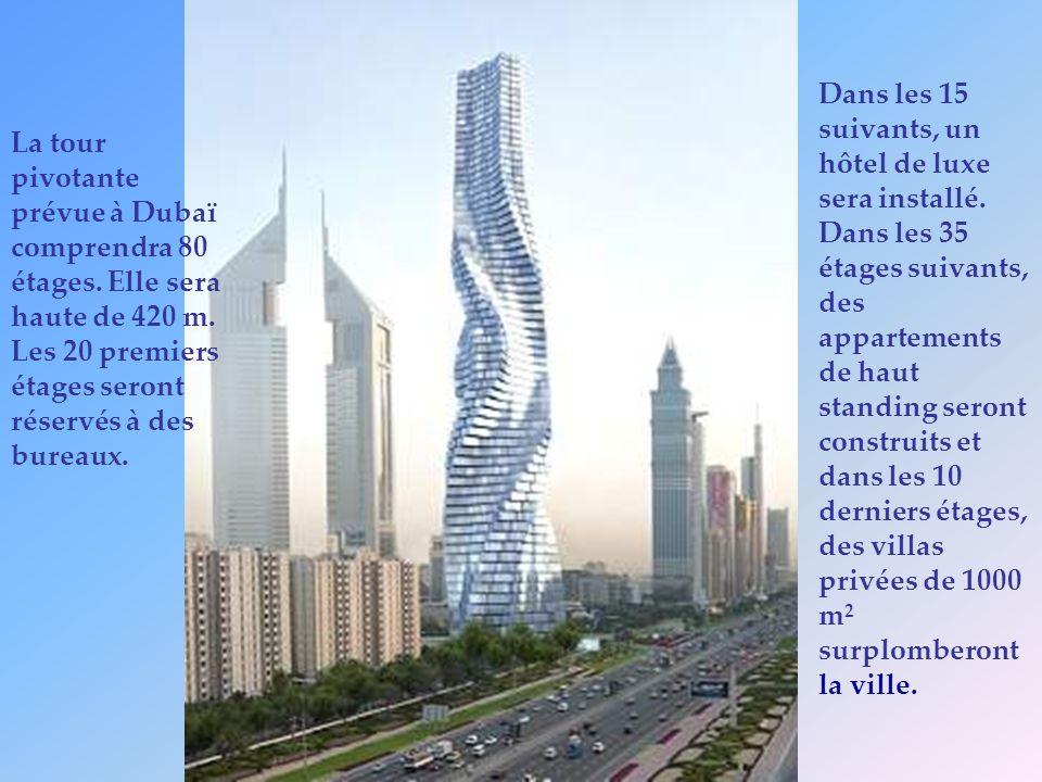 Dans les 15 suivants, un hôtel de luxe sera installé