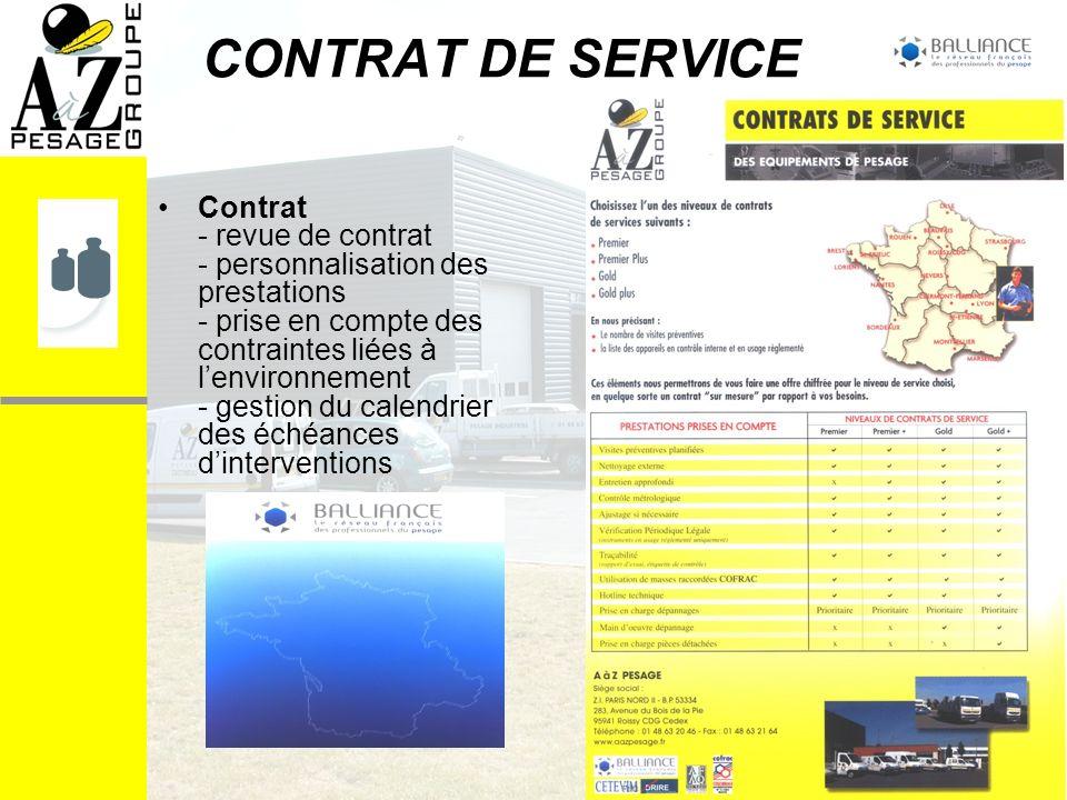 CONTRAT DE SERVICE