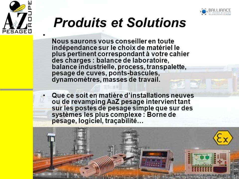 Produits et Solutions