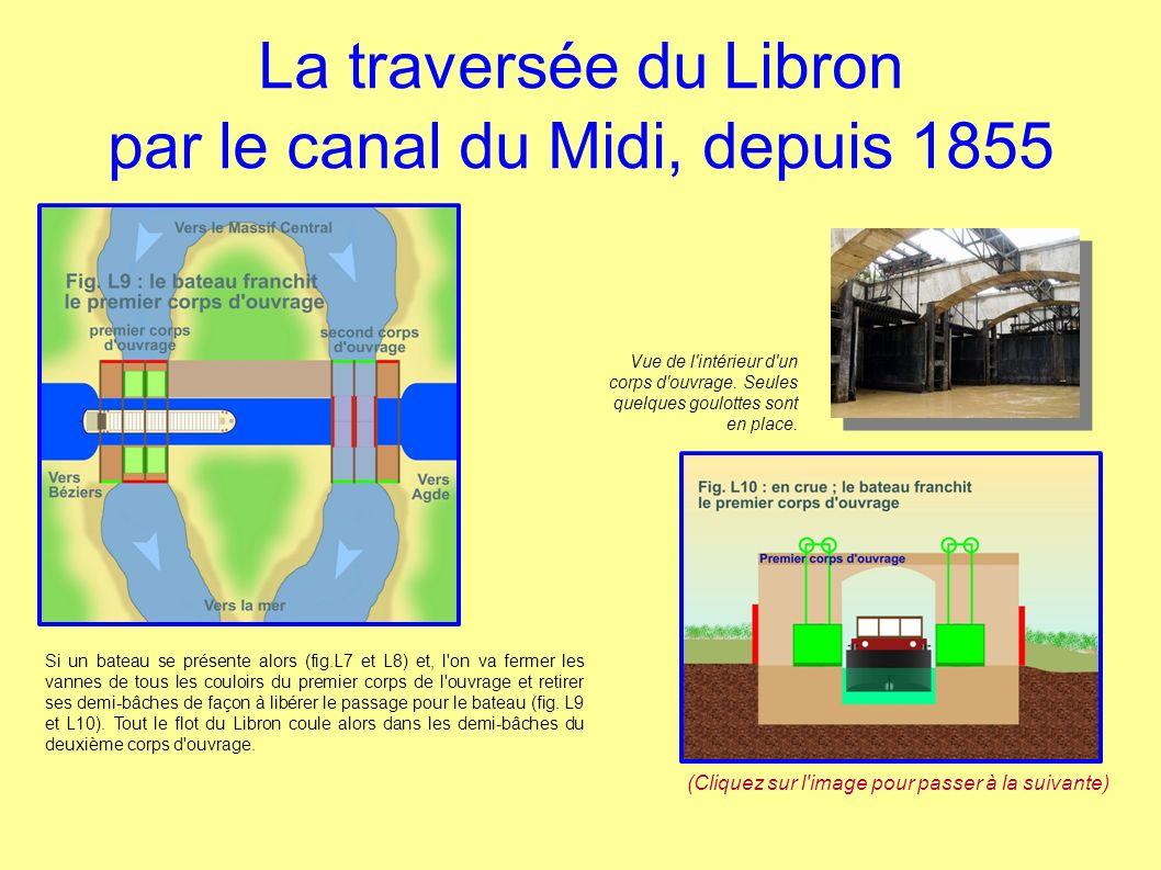La traversée du Libron par le canal du Midi, depuis 1855