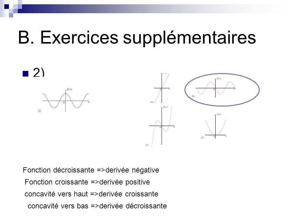 B. Exercices supplémentaires