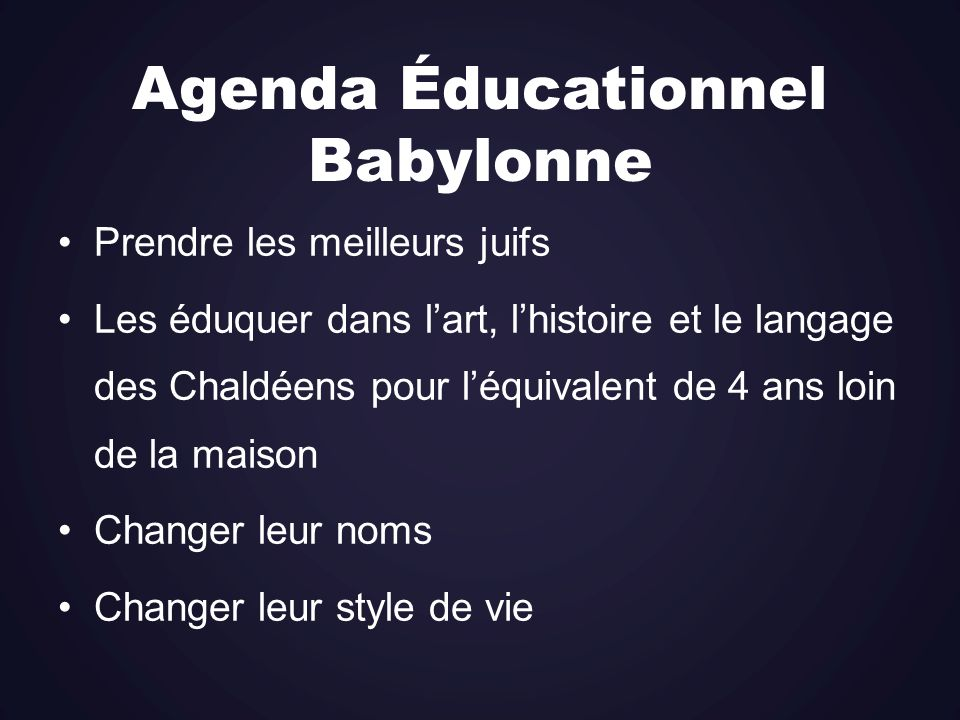 Agenda Éducationnel Babylonne