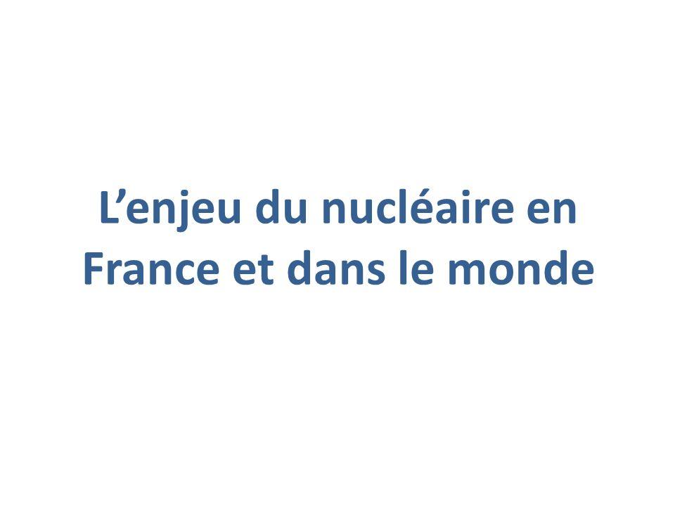 L'enjeu du nucléaire en France et dans le monde