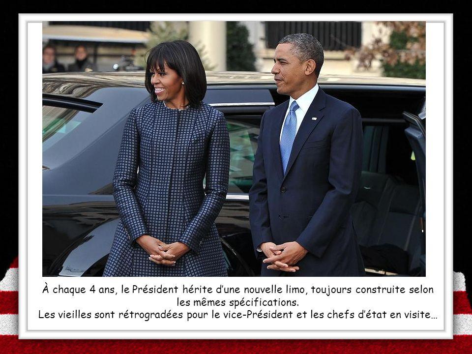 À chaque 4 ans, le Président hérite d'une nouvelle limo, toujours construite selon les mêmes spécifications.