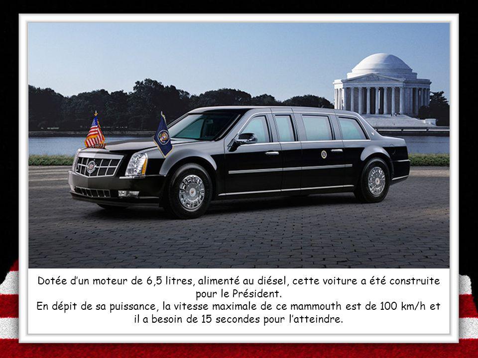 Dotée d'un moteur de 6,5 litres, alimenté au diésel, cette voiture a été construite pour le Président.