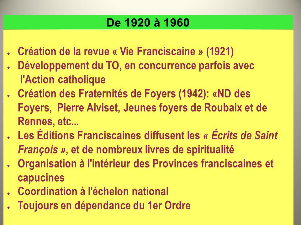 Création de la revue « Vie Franciscaine » (1921)