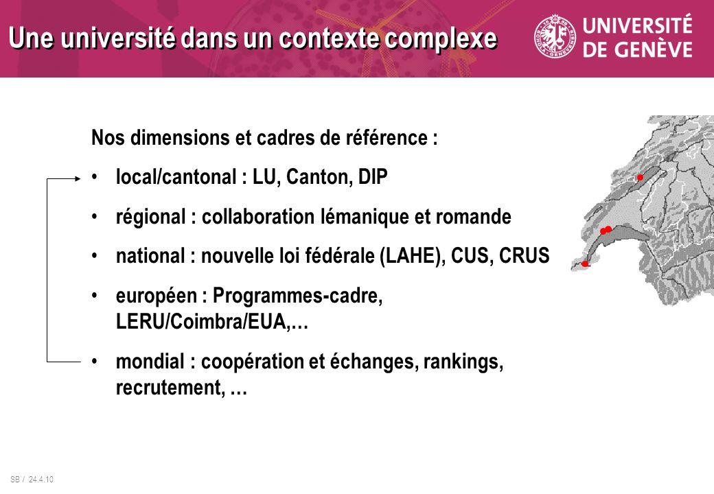 Une université dans un contexte complexe