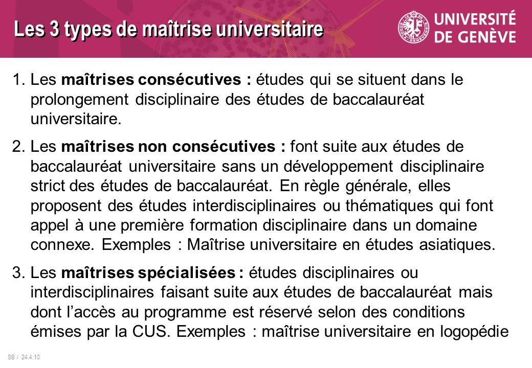 Les 3 types de maîtrise universitaire