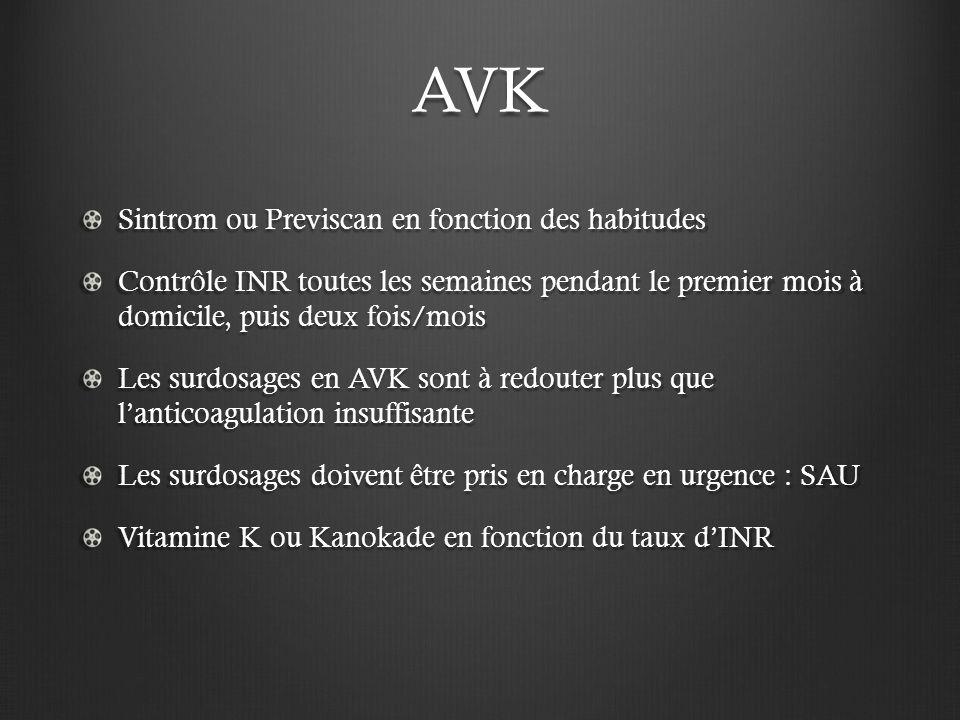AVK Sintrom ou Previscan en fonction des habitudes