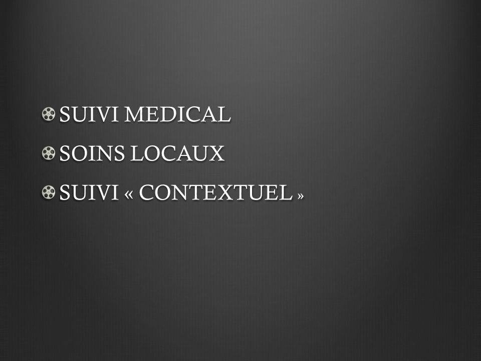 SUIVI MEDICAL SOINS LOCAUX SUIVI « CONTEXTUEL »