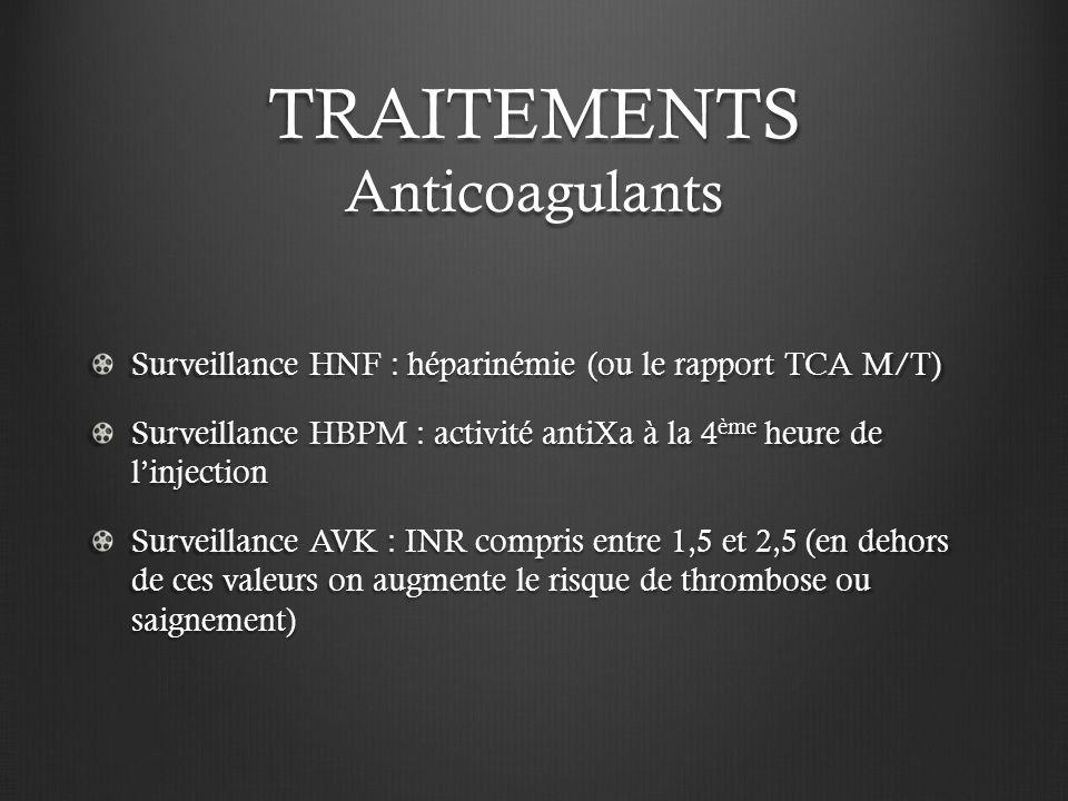 TRAITEMENTS Anticoagulants