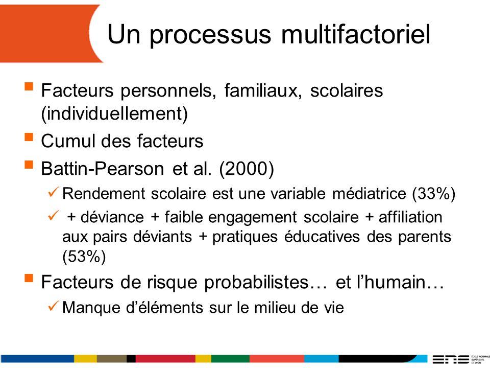 Un processus multifactoriel