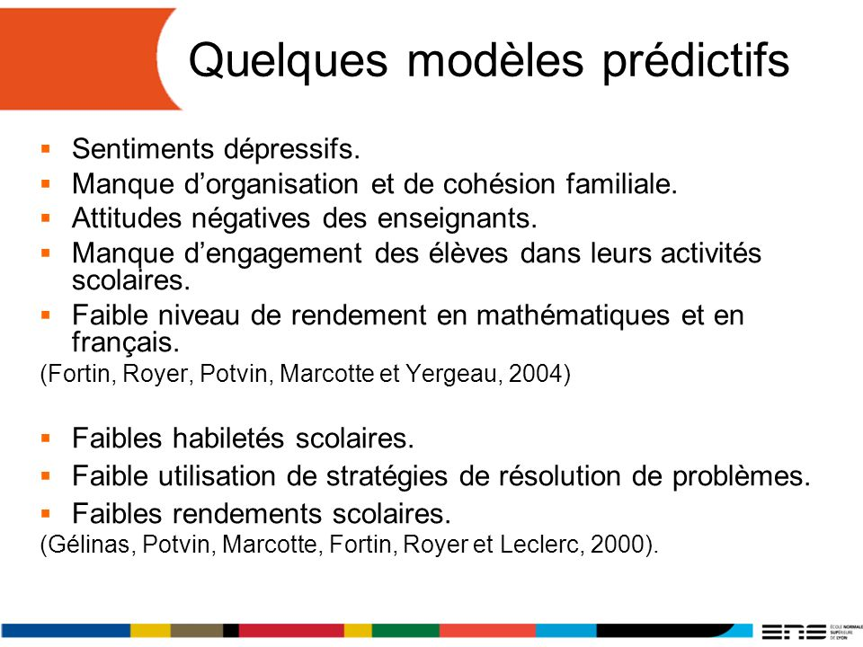 Quelques modèles prédictifs