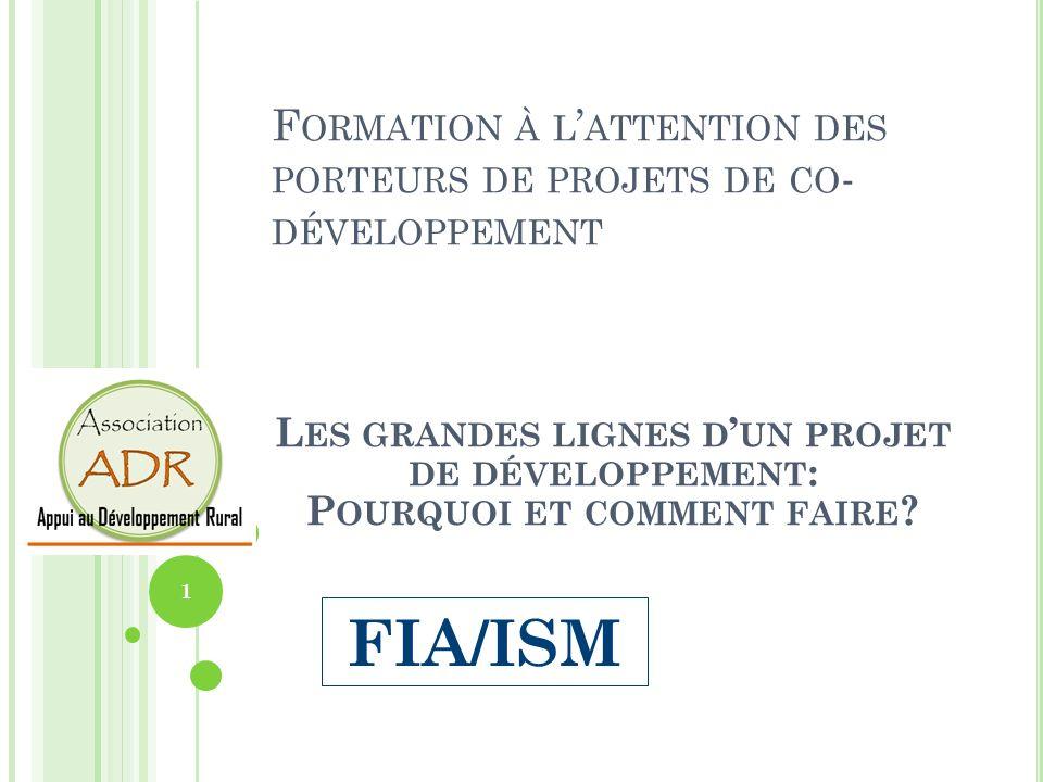 Formation à l'attention des porteurs de projets de co-développement