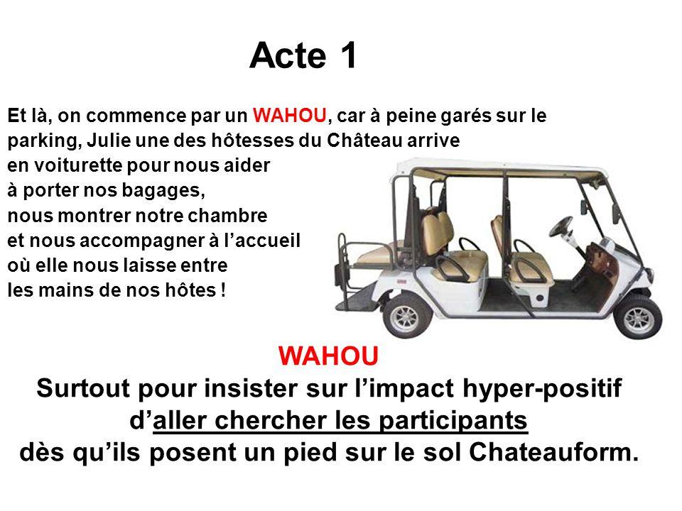 Acte 1 WAHOU Surtout pour insister sur l'impact hyper-positif