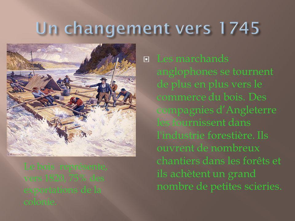 Un changement vers 1745