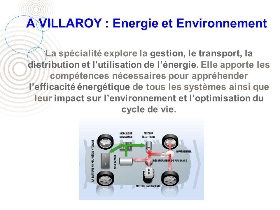 A VILLAROY : Energie et Environnement
