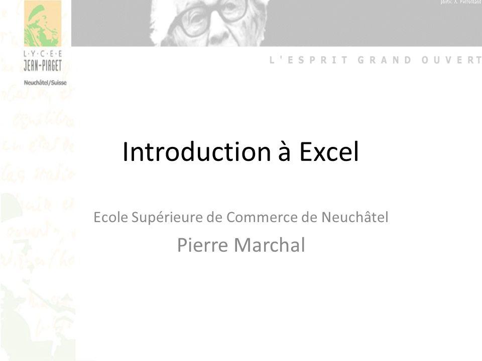 Ecole Supérieure de Commerce de Neuchâtel Pierre Marchal