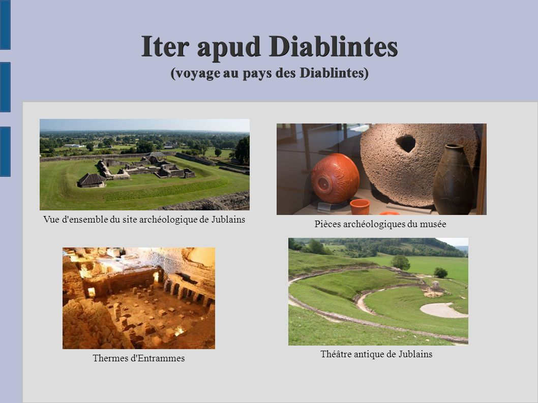 Iter apud Diablintes (voyage au pays des Diablintes)