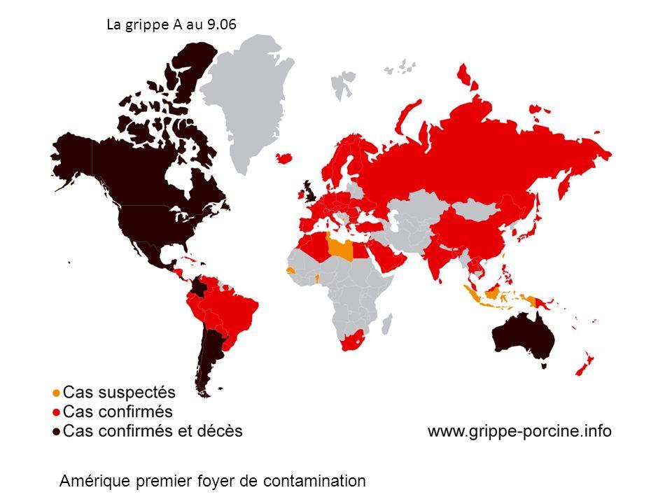 La grippe A au 9.06 Amérique premier foyer de contamination