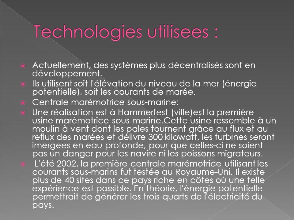 Technologies utilisees :
