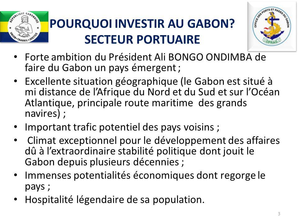 POURQUOI INVESTIR AU GABON SECTEUR PORTUAIRE