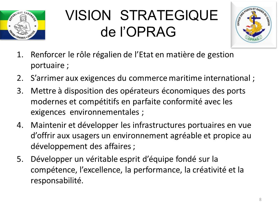 VISION STRATEGIQUE de l'OPRAG