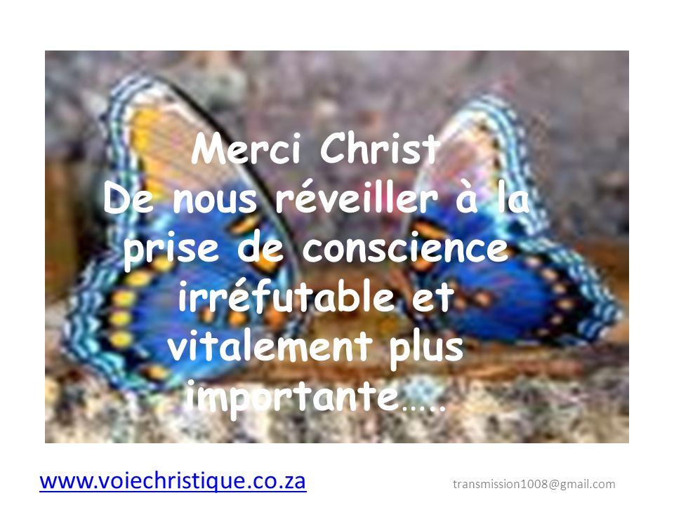 www.voiechristique.co.za transmission1008@gmail.com
