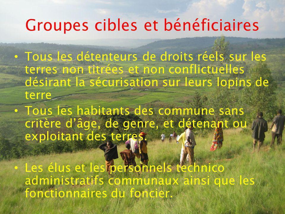 Groupes cibles et bénéficiaires