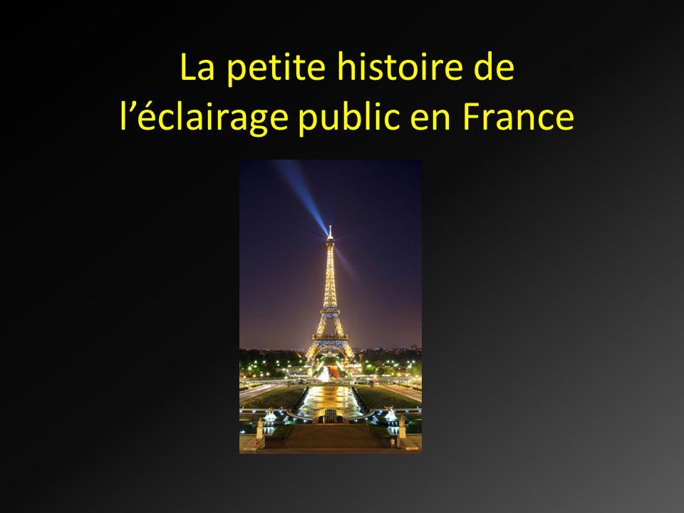 La petite histoire de l'éclairage public en France
