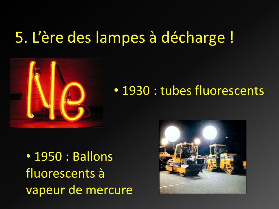 5. L'ère des lampes à décharge !