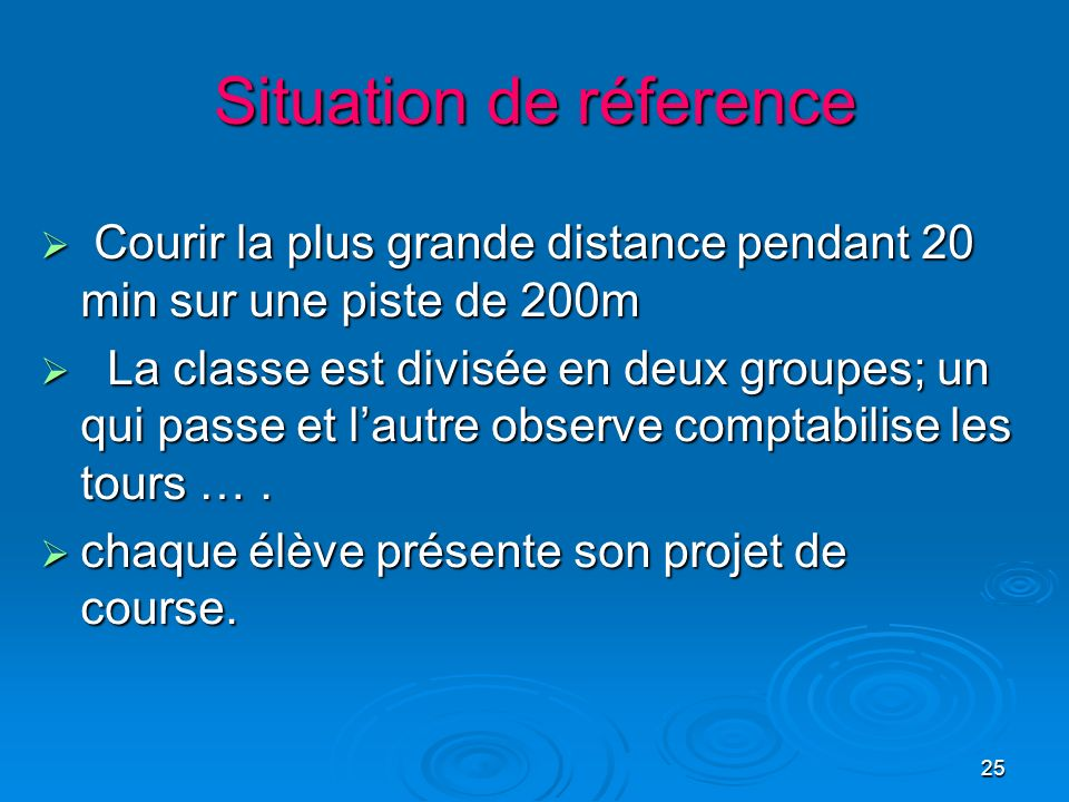 Situation de réference