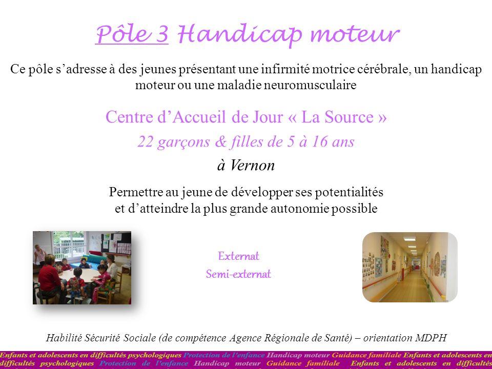 Pôle 3 Handicap moteur Centre d'Accueil de Jour « La Source »