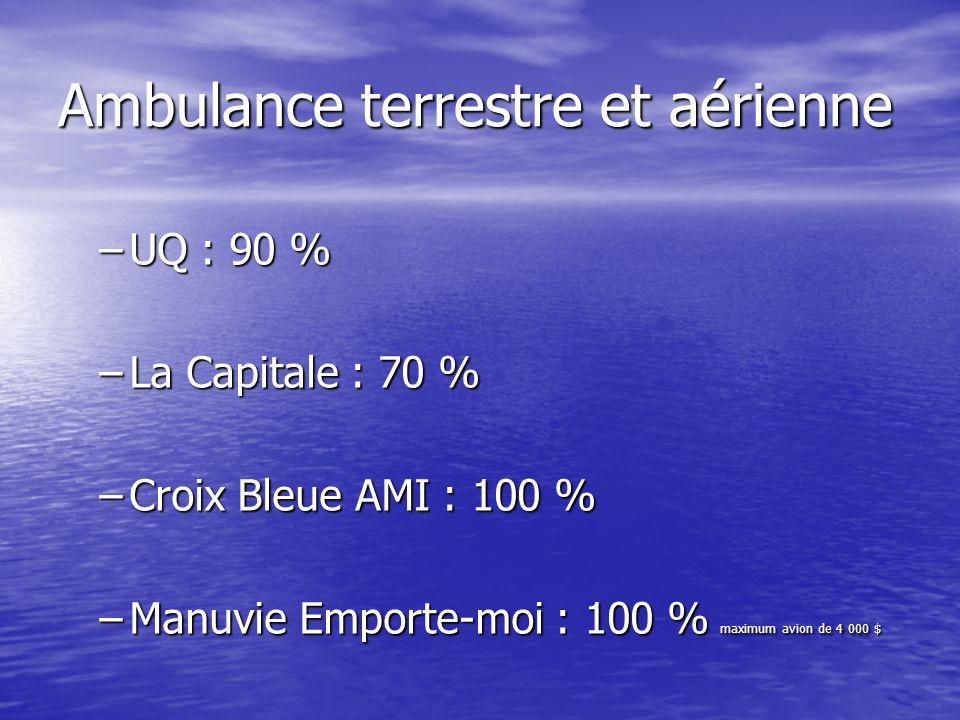 Ambulance terrestre et aérienne