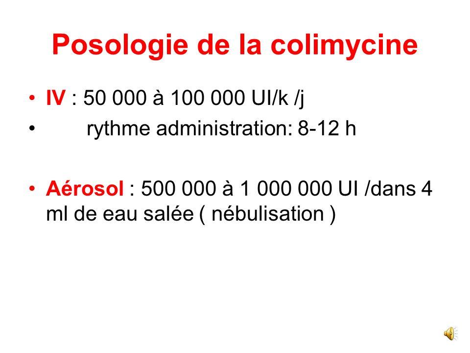 Posologie de la colimycine
