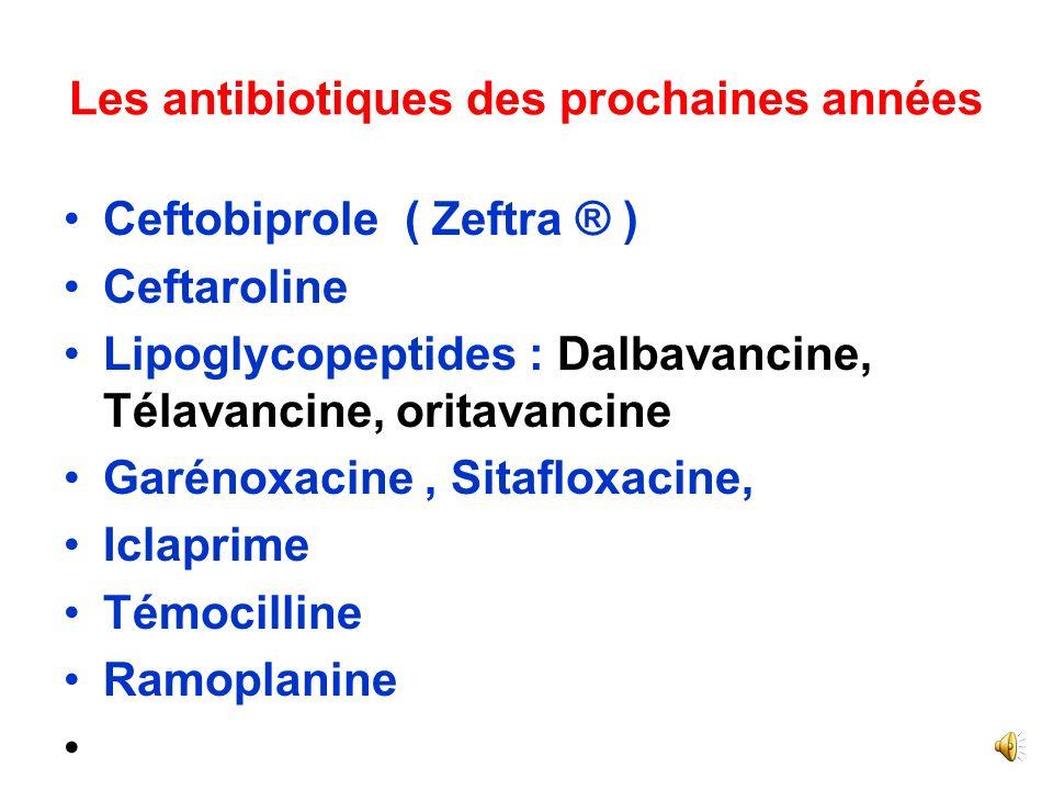 Les antibiotiques des prochaines années
