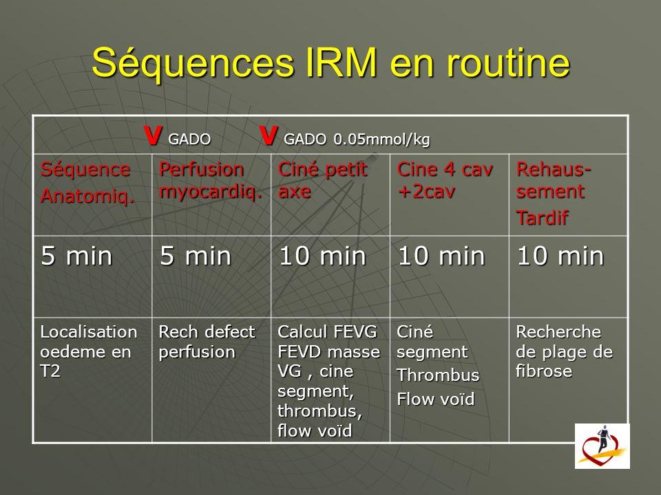 Séquences IRM en routine