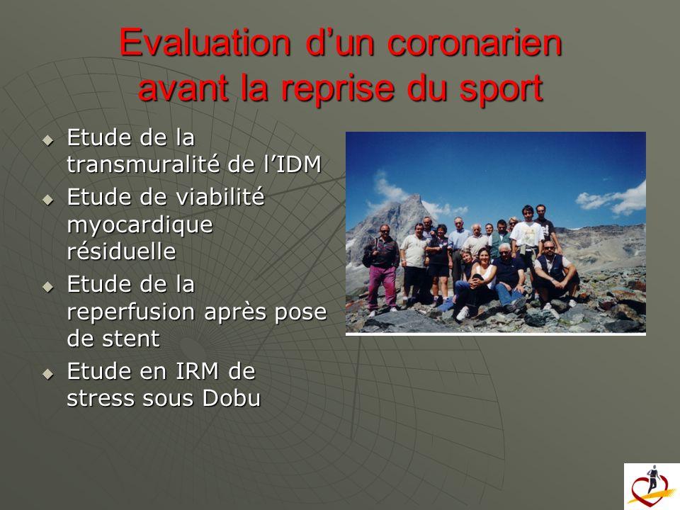Evaluation d'un coronarien avant la reprise du sport