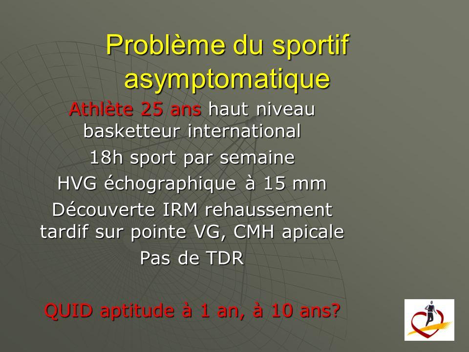 Problème du sportif asymptomatique