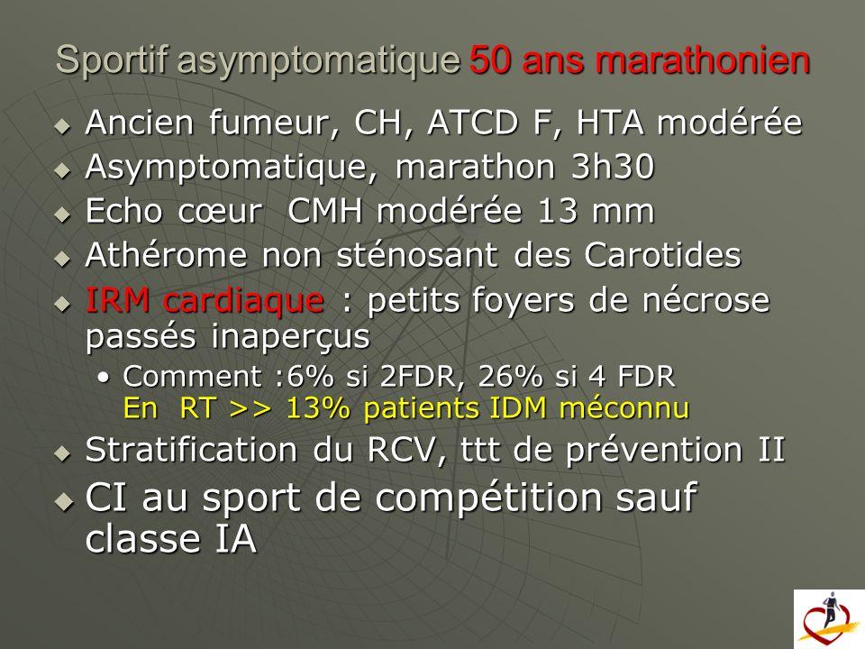 Sportif asymptomatique 50 ans marathonien